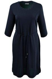 Abendkleid mit dekorativem Ausschnitt, Crêpe-Jersey