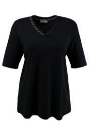 Shirt mit Ziersteinen am Ausschnitt