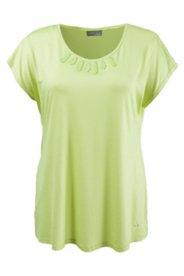 Shirt aus elastischem Viskose-Crêpe, oversized
