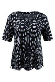 Shirt mit Batik-Design, Herzausschnitt