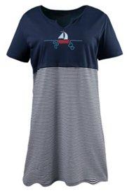 Bigshirt mit Motiv Küstenqueen, Baumwolljersey