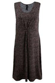 Kleid mit Zierknoten, Viskosejersey