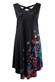 Kleid mit Schmetterlingen, Rücken mit gekreuzten Trägern