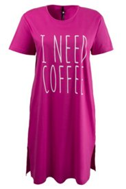 "Bigshirt ""I NEED COFFEE"", Baumwolle"