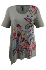 Shirt mit Blütendruck, Saum zum Binden, Homewear