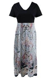 Kleid im Patch-Look, mit Elasthan