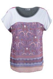 T-Shirt mit trendigen Paisleymustern, mit Elasthan