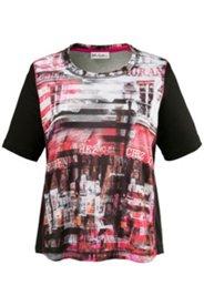 Shirt mit Stadtmotiv, Halbarm