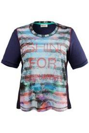 Shirt mit Streifen und Schriftzug