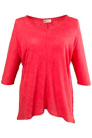Pullover aus Baumwollstrick, weite Schultern