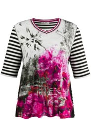 Shirt im Patch-Look, Motiv Paris