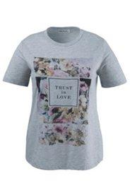 T-Shirt mit Blütenmotiven und Schriftzug