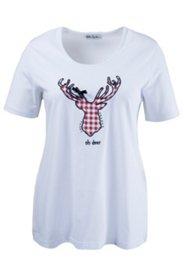 Shirt mit Hirschapplikation und Strass