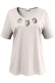Shirt mit Perlenstickerei, 100 % Baumwolle