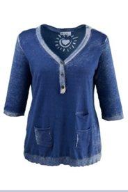 Pullover mit Taschen, unregelmäßige Färbung