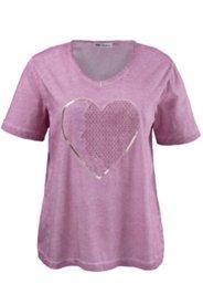 T-Shirt mit Herzmotiv, 100 % Baumwolle