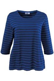 Sweatshirt, 3/4-Ärmel mit Umschlag und U-Boot-Ausschnitt