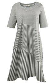 Kleid, Tulpenform, Ringel, Bio-Baumwolle