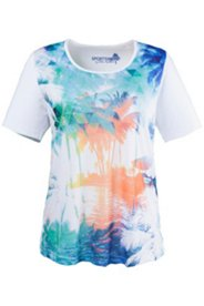 Shirt mit Palmenmotiv, A-Linie