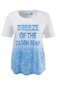 Shirt mit Ausbrennereffekt und Ziersteinen, A-Linie