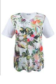 Shirt mit Kakadumuster, A-Linie