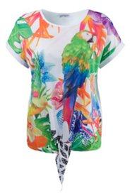 Shirt mit Papageienmotiv, Elasthan
