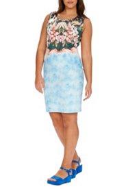 Kleid, ärmellos, Blumenmuster