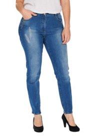 Jeans, Steinchenverzierung am Tascheneingriff, Skinny, destroyed