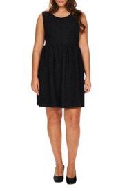 Kleid, komplett aus feiner Spitze, klassische Silhouette, Baumwolle