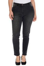 Jeans, eng geschnitten, Skinny, durch Stretch super bequem, Used-Effekte