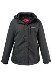 Outdoor-Jacke, Punktedesign, abnehmbare Kapuze, Stehkragen, Fleecefutter