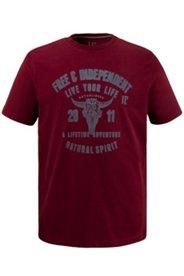 T-Shirt, Rundhals, Adler Motiv, Baumwolle