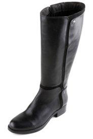 Stiefel mit XL-Weitschaft und Elastikeinsatz, Weite H