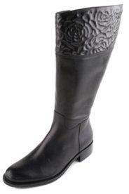 Stiefel mit Blütenprägung, Weite H