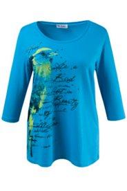 Shirt mit glitzerndem Schriftzug, Elasthan
