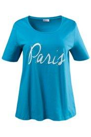 """T-Shirt mit Schriftzug """"Paris"""", Elasthan"""