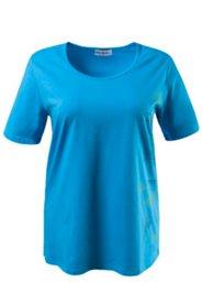 T-Shirt mit seitlichem Muster, Elasthan