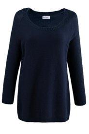 Strukturstrick-Pullover aus 100 % Baumwolle
