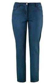 Jeans, 5-Pocket-Form, Regular Fit, dunkle Waschoptik, Stretchdenim