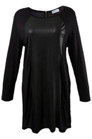 Kleid Homewear, Reißverschluss hnten, Einsatz in Schlangenlederoptik