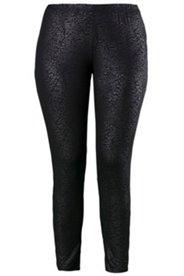 Leggings Homewear, glänzendes Leomuster, elastische Qualität