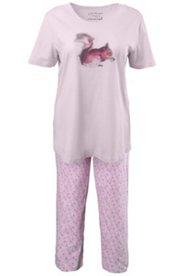 Pyjama, Motiv Eichhörnchen, 100 % Baumwolle