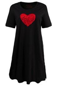 Bigshirt mit Herz aus Chiffonbändern