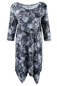 Kleid mit Zipfelsaum und Metallic-Spange
