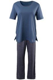 Pyjama mit Rautenmuster, 100 % Baumwolle
