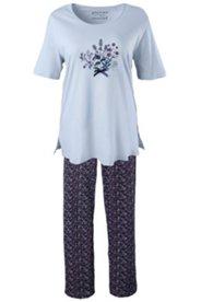 Pyjama mit Blütenmuster, 100 % Baumwolle