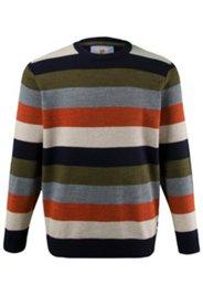 Pullover, Ringel-Muster, Schurwoll-Qualität, Rundhalsausschnitt