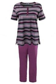 Pyjama mit Streifenmuster, 100% Baumwolle