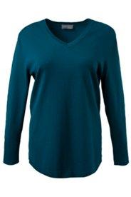Pullover mit V-Ausschnitt, Feinstrick