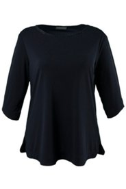 Shirt, Ausschnitt mit Zierband, 3/4-Arm